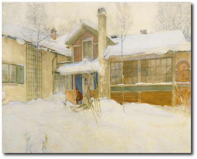 larsson-carl-my-country-cottage-in-winter-sundborn-canvas
