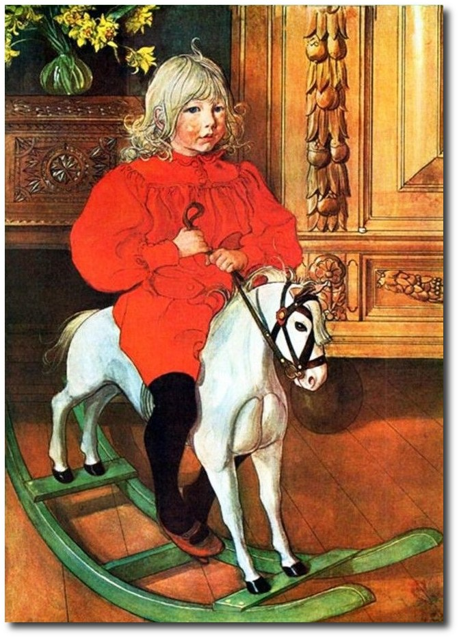 scandinavian-artist-carl-larsson-murre-rockinghorse
