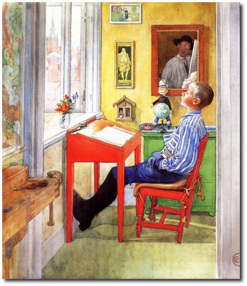 scandinavian-artist-carl-larssons-ulf-homework