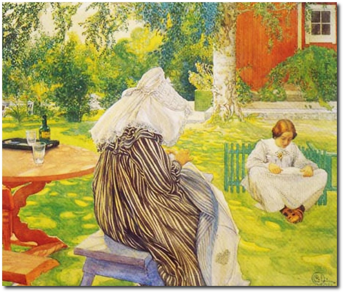 scandinavian-carl-larsson-family-back-yard-garden