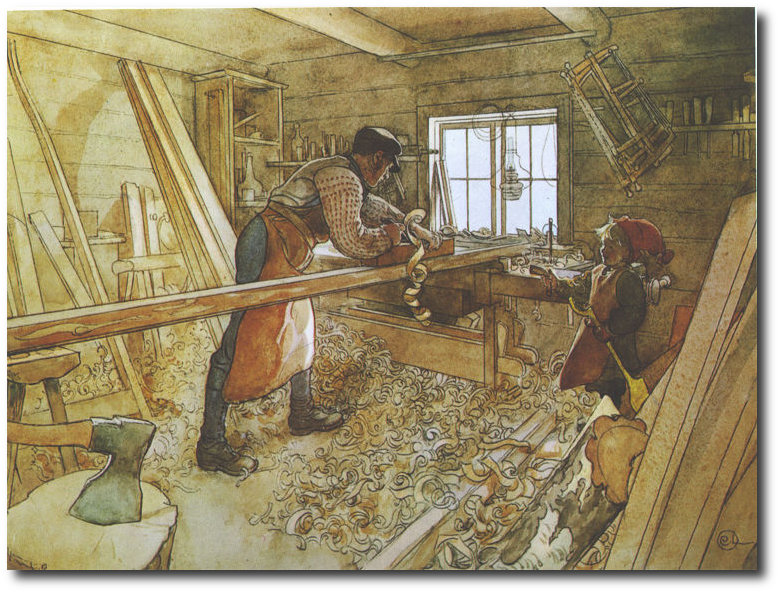 swedish-carl-larsson-carpenters-work