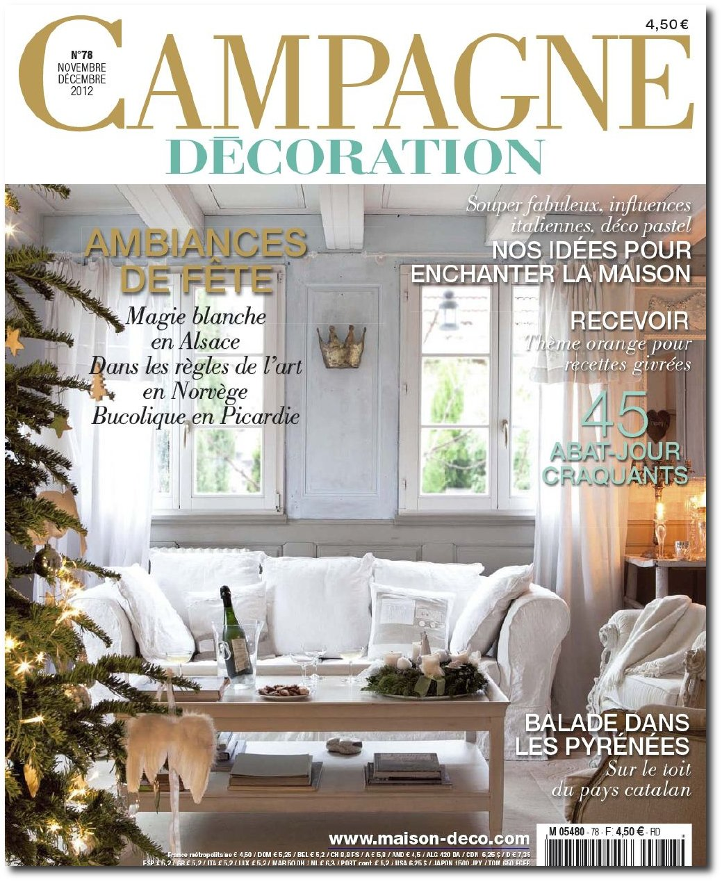 International interior decorating magazines worth buying for Campagne decoration