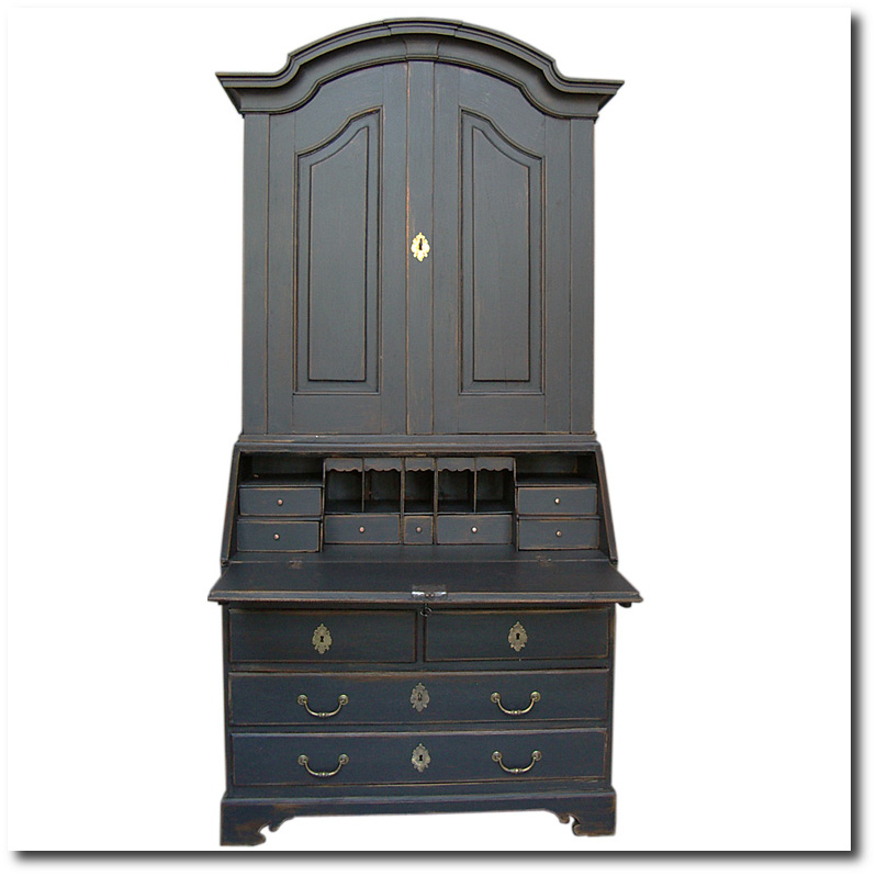 black-painted-swedish-secretary-cupboards-and-roses
