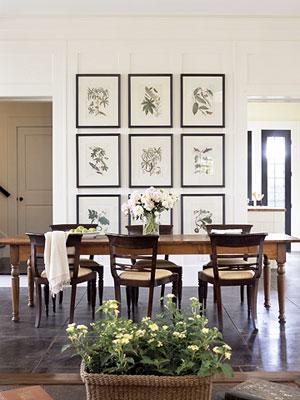 Botanical Photo Gallery Farmhouse Dining Table Espresso Dining