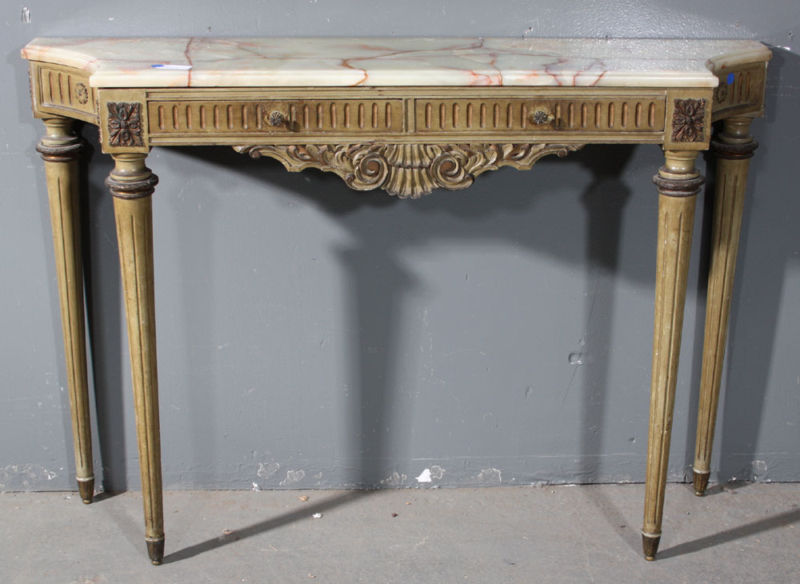 French Louis XVI Onyx Top Console From Urban Artifacts