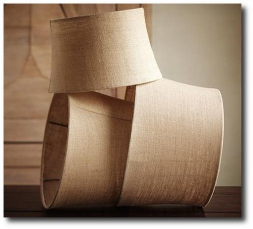 Burlap-Tapered-Lamp-Shades-From-Pottery-Barn