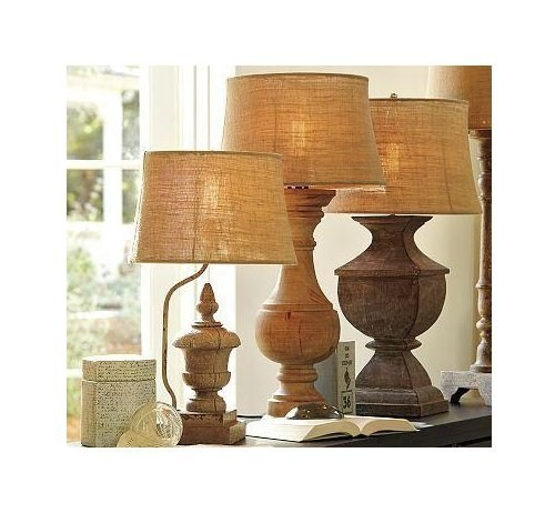 Primitive Swedish Architectural Style Salvage Lamp Bases
