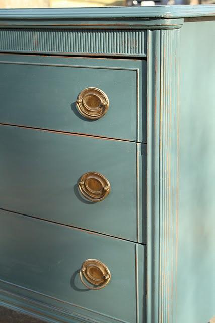 Painted Furniture Louis XVI  Benjamin Moore Color Called Aura Newburg Green