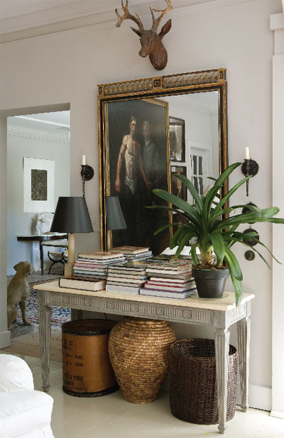 Frank Faulkner Antique Console Featured in New York Spaces Magazine Swedish Dining Room Chairs