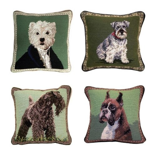 What A Bark 25 Of The Striking Dog Needlepoint Pillows For Your Sofa