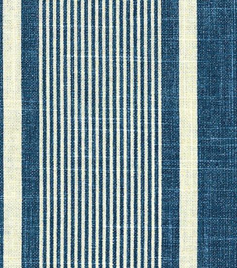 Home Decor Fabrics Waverly Berkley Stripe Indigo Fabric