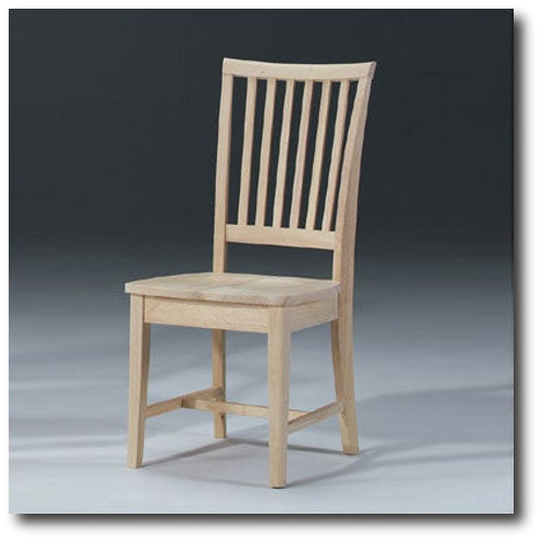 International Concepts 265P Pair of Mission Side Chairs, Unfinished