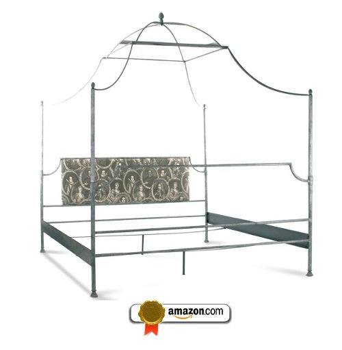 Dalton French Country Rustic Metal Old World Canopy Bed- King
