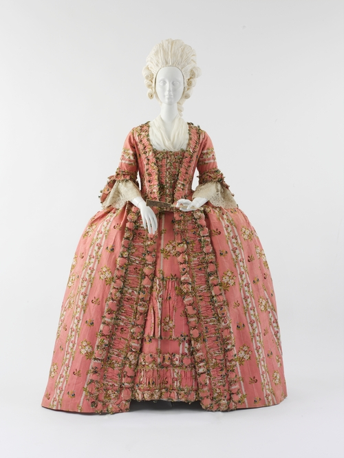 french pink dress from the 18th century 1775