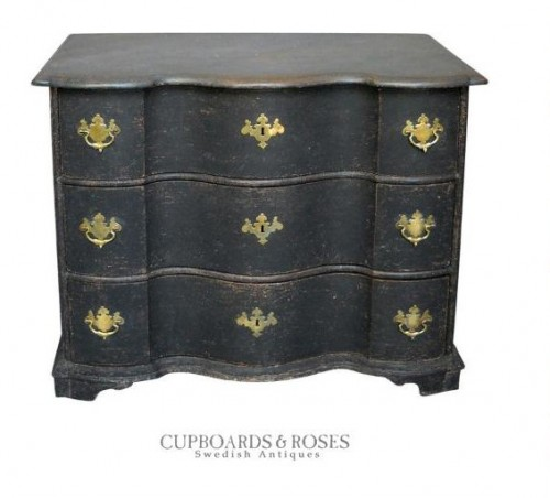 Best Painted Furniture, Black Painted Antiques, Black Painted Furniture, How To Paint, Scandinavian Furniture, Swedish Antiques