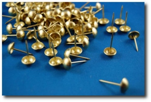Brass Plated Upholstery Tacks Nails Trim pack of 100