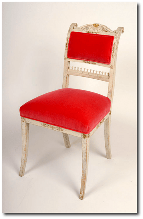 Red Gustavian Chair Featured-on Karina Gentinetta Blog