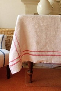 Swedish Table Ideas- Red Antiuqe Linens