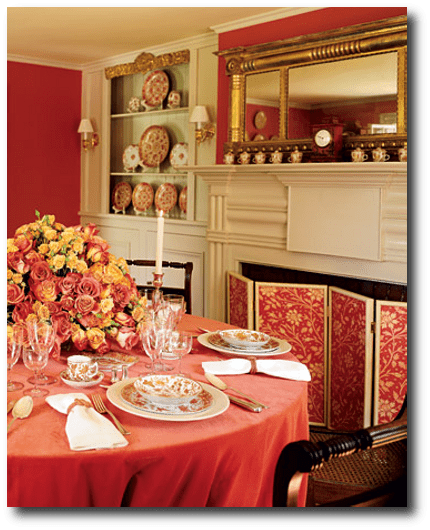English American Red Early Decorating Ideas