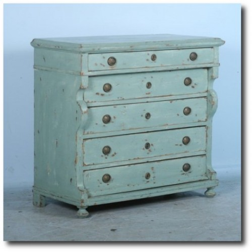 Antique Danish Pine Green-Blue Chest of Drawers Dresser c.1820-1840 Scandinavian Antiques Ebay