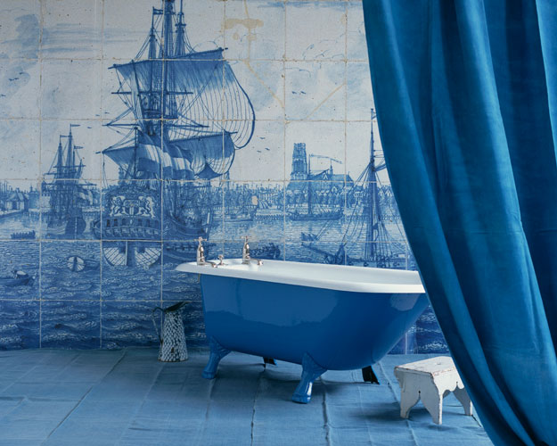 Delft Blue Tile- Swedish Decorating Ideas- Blue And White