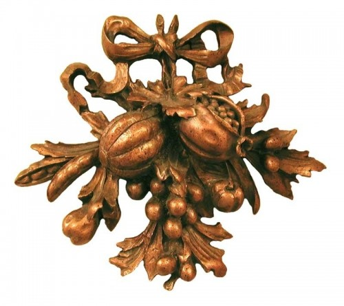 Fruit Carving Ii Bronze Wall Plaque Decor Decor Pizzazz Home Decor 500x445 Architectural Molds