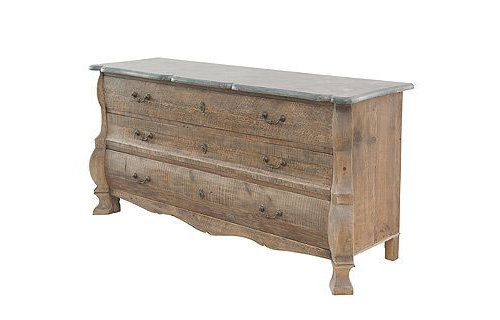 Bon Large 3 Drawer Chest Bleached Pine Reclaimed Wood Spectacular Furniture  From World Bazaar Exotics