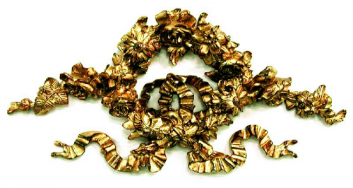 Ornate Floral Ribbon Wreath Bronze Wall Plaque Decor Pizzazz Home Decor 500x266 Architectural Molds
