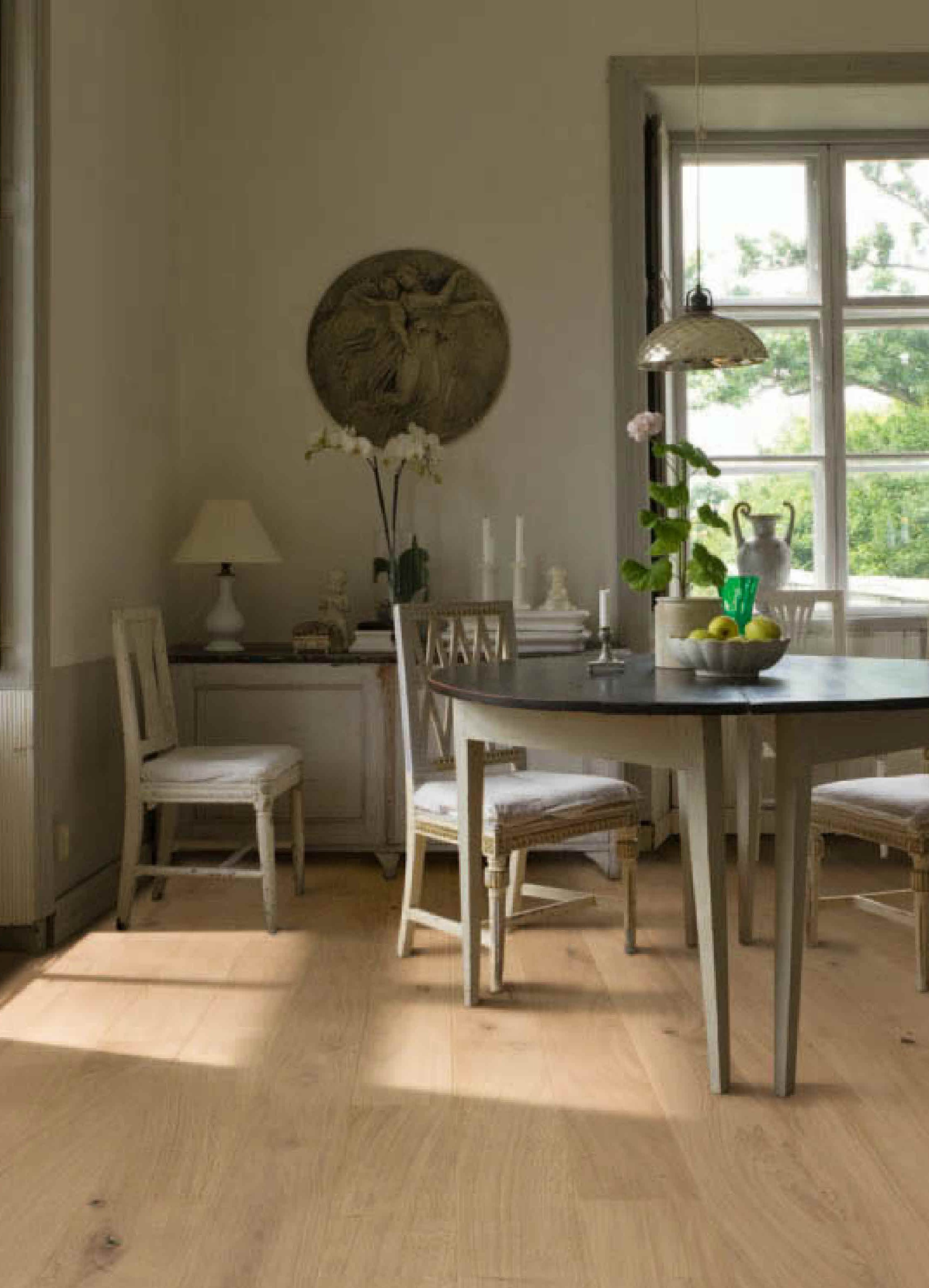 Swedish Interior Design Using Oak Flooring