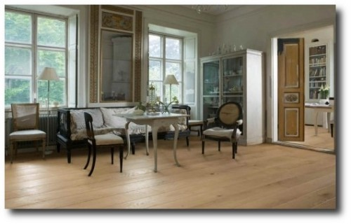 Swedish Interiors Using Oak Flooring
