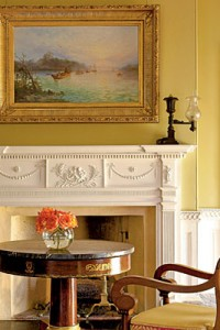 Yellow Ocher Painted Walls From Southern Accents Magazine