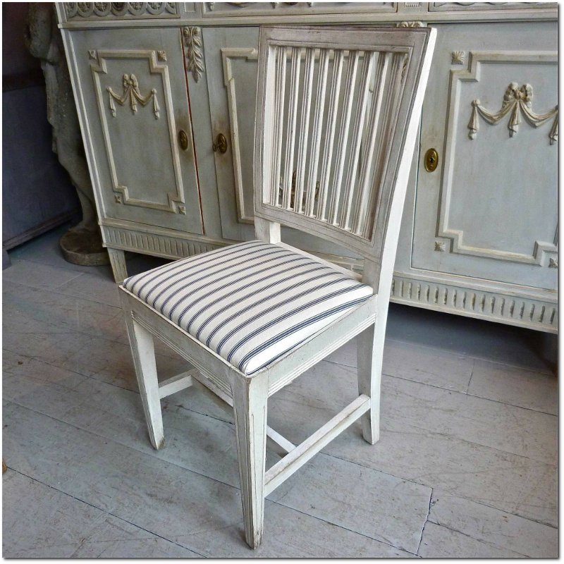 A Set of 8 Antique Swedish Gustavian Style Dining Chairs - Monique Waqué's 200 Year Old Farmhouse In Northern Germany