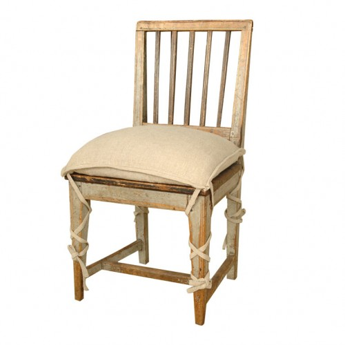 Gustavian Chair with Pancake Cushion