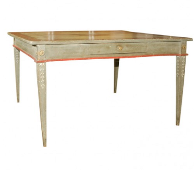 Gustavian Swedish Furniture Exceptional Polychrome Table Seller Fleur