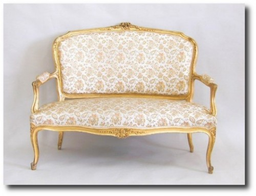 Louis XV Suite 19th Century Rococo Settee and 4 Armchairs Gilded Ranavalona 2