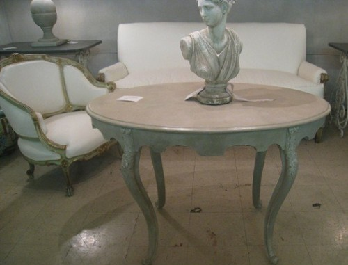 Painted Antique Furniture Using Pastel Greens - Picture Credited to Cote De Texas