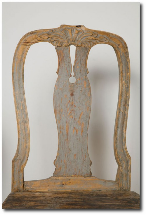 Pair Of Wooden Gustavian Chairs Ca 1800