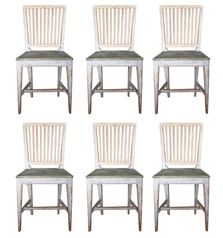 Monique Waqu233s 200 Year Old Farmhouse In Northern Germany : Set of six 18th Century style Gustavian chairs from theswedishfurniture.com size 719 x 768 jpeg 94kB