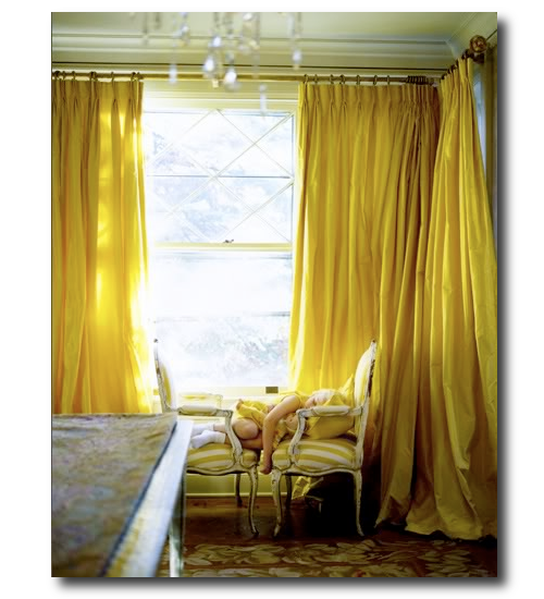 Dupioni Silk Draperies- Ideas For French And Swedish Decorating