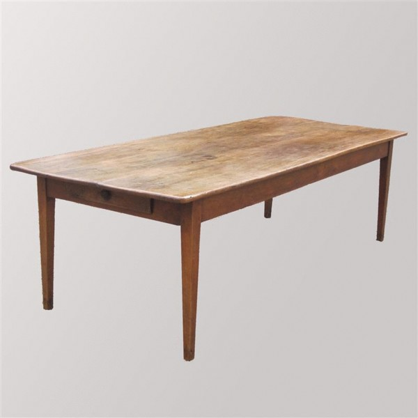 Early 19th Century Antique Fruitwood Farmhouse Dining Table