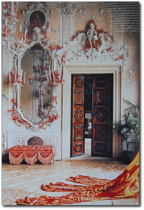 Palazzo Brandolini Australia Vogue 500x727 10 Ways To Use Pink, Orange and Coral In Your Home