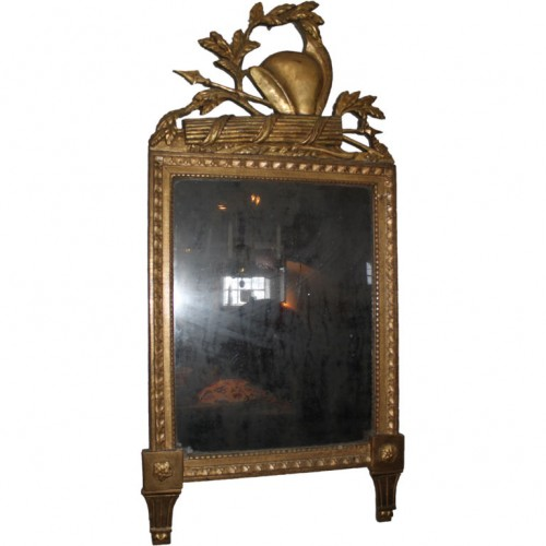 A French gilt wood mirror from the Empire period