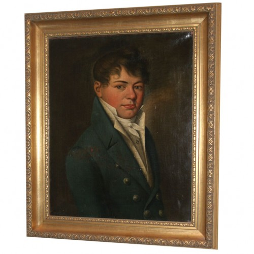 Empire Oil Painting of Young Boy