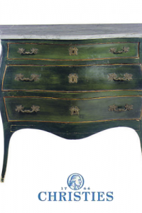 Green Painted Commode