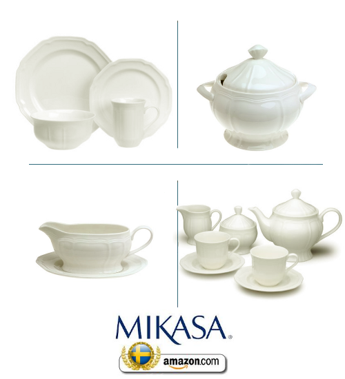 sc 1 st  Swedish Furniture & Mikasa Antique White Dinnerware Sets
