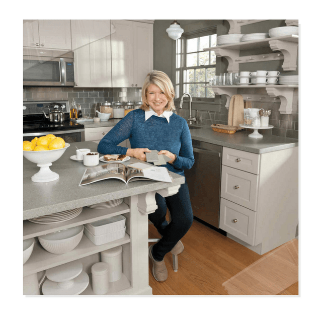 Paint Your Cabinetry Gray Like Martha Stewart S Kitchen