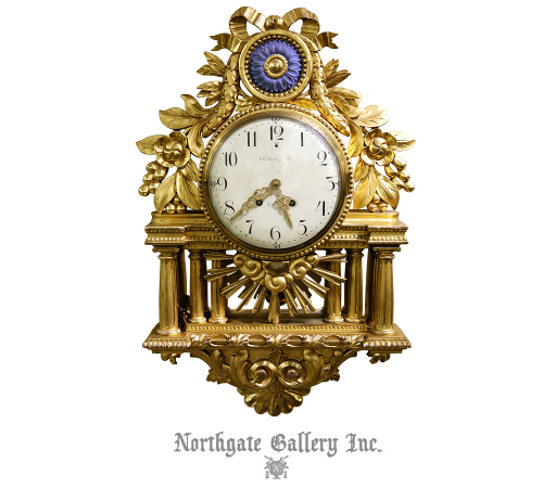 Giltwood Swedish Clock