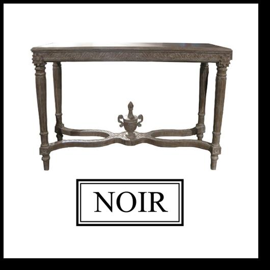 Noir milo console table - Table console noire ...