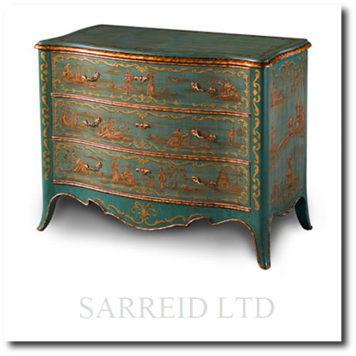 3 Drawers Hand painted Chinoiserie Chest 500x500 Martelle International