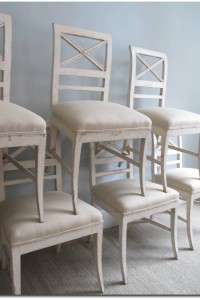 A Set of 6 Swedish dining chairs, 19th Century